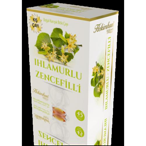 Ihlamurlu-Zencefilli Karışık Çay (45 Süzen Poşet)
