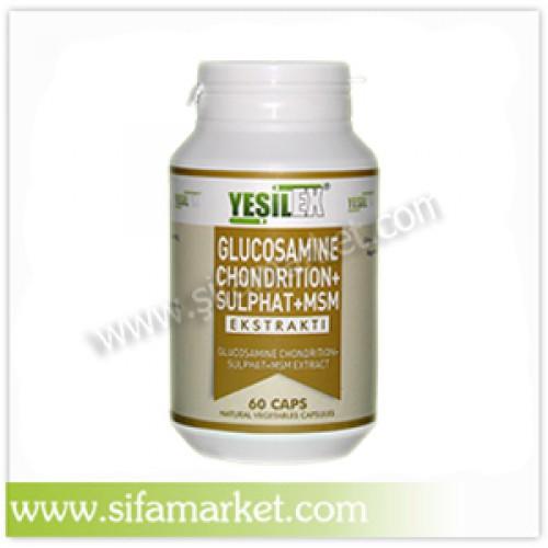Yeşilex Glucosamine Chondroition + Sulphate + MSM 500 mg (60 Kapsül)